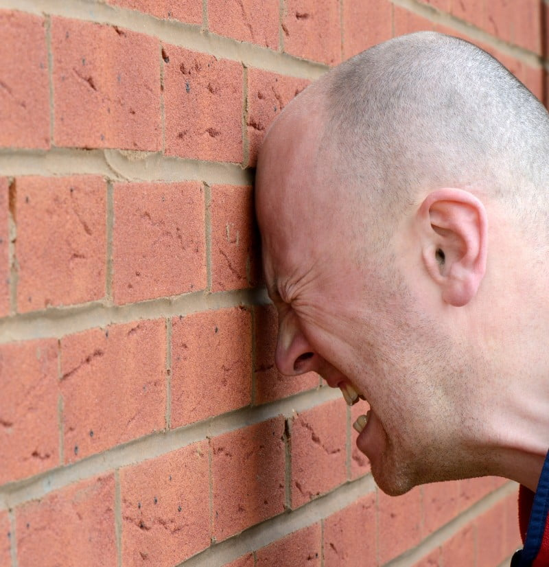 Stop banging your head against the proverbial brick wall